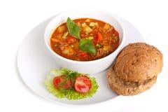 肉剁碎的汤蕃茄蔬菜 免版税库存图片