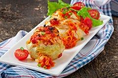 肉南瓜被充塞的蔬菜 免版税图库摄影