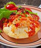 肉南瓜被充塞的蔬菜 图库摄影