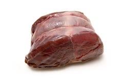 肉原始的鹿肉 免版税库存图片
