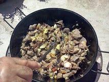 肉厨房 免版税库存照片