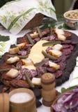 肉和乳酪安排 库存图片