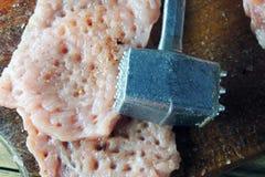 肉和烹调锤子 免版税图库摄影