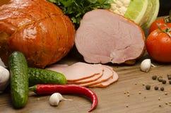 肉和菜  库存照片