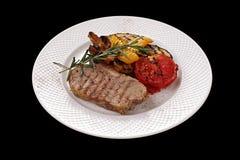 肉和蔬菜 免版税库存图片