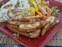 肉和蔬菜 库存图片