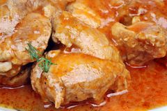 肉和调味汁 免版税库存图片