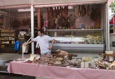 肉店在市场分裂克罗地亚上 免版税库存图片