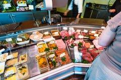 肉店在法国的香宾地区 库存图片