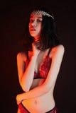 肉欲的内衣的秀丽性感的妇女 图库摄影