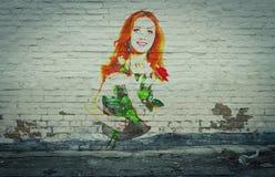 年轻肉欲的妇女画象  图库摄影