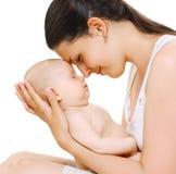 肉欲的妈妈和婴孩 免版税库存照片