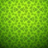 肉欲的精美绿色背景。无缝 免版税库存照片