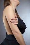 肉欲的赤裸妇女身体 图库摄影