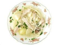 肉汤鸡热汤 免版税图库摄影