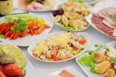 肉沙拉用乳酪 免版税库存照片