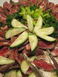 肉沙拉 免版税库存图片