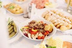 肉沙拉 免版税图库摄影