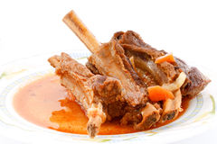 肉炖煮的食物 免版税库存照片