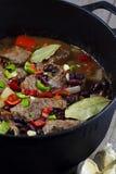 肉炖煮的食物 免版税图库摄影
