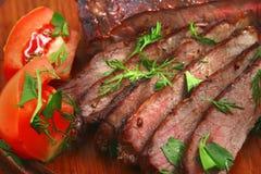 肉烘烤蔬菜 图库摄影