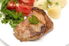 肉烤了 库存图片
