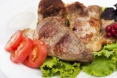 肉烤了 图库摄影