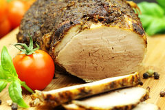 肉烤了 免版税图库摄影