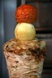 肉烤了shawarma 免版税库存照片