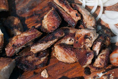 肉烤肉1 免版税库存照片