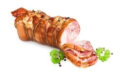 肉熏制的胸肉 免版税库存照片