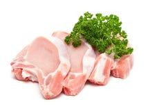 肉片和束荷兰芹 免版税库存照片
