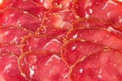 从肉片的背景卡利亚里 库存图片