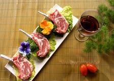 肉牌照蔬菜 免版税图库摄影