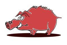 肉猪字符 库存例证