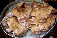 肉猪头 免版税库存图片