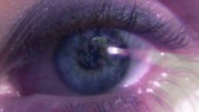 肉眼的储蓄英尺长度与转动的地球的 影视素材