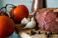 肉菜调味料 免版税库存图片