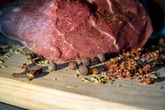 肉菜调味料 图库摄影