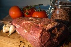 肉菜调味料 库存图片