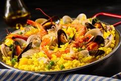肉菜饭一杯la玛格丽塔酒用贝类 免版税图库摄影