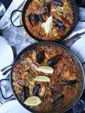 肉菜饭在巴塞罗那 免版税库存照片
