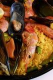 肉菜饭米西班牙语 免版税库存照片