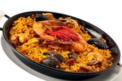 肉菜饭西班牙语 免版税图库摄影