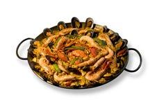 肉菜饭西班牙语 免版税库存照片