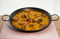 肉菜饭Valenciana 库存照片
