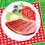 肉蔬菜 向量例证