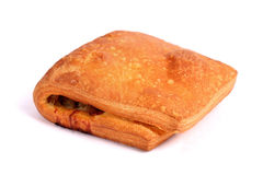 肉被填装的油酥点心果馅奶酪卷 库存照片