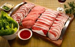 肉选择 免版税库存照片