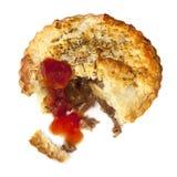 肉馅饼用被隔绝的西红柿酱 免版税库存照片
